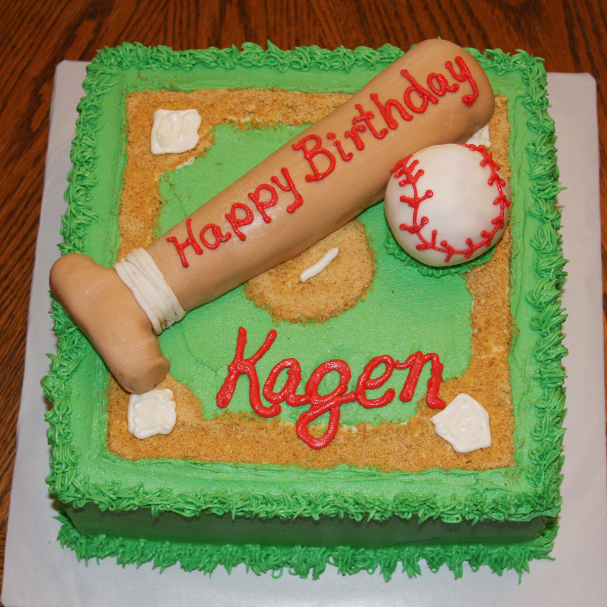 Baseball Birthday Cake  Carla s Cakes Baseball Birthday Cake