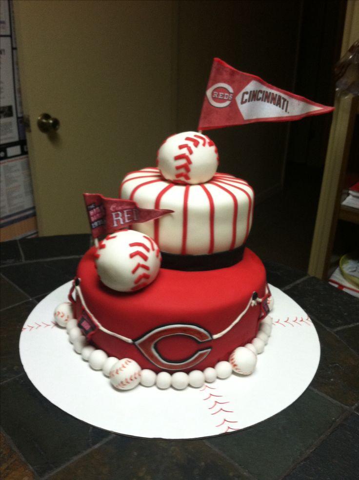 Baseball Birthday Cake  159 best All Things Baseball Cincinnati Reds images on