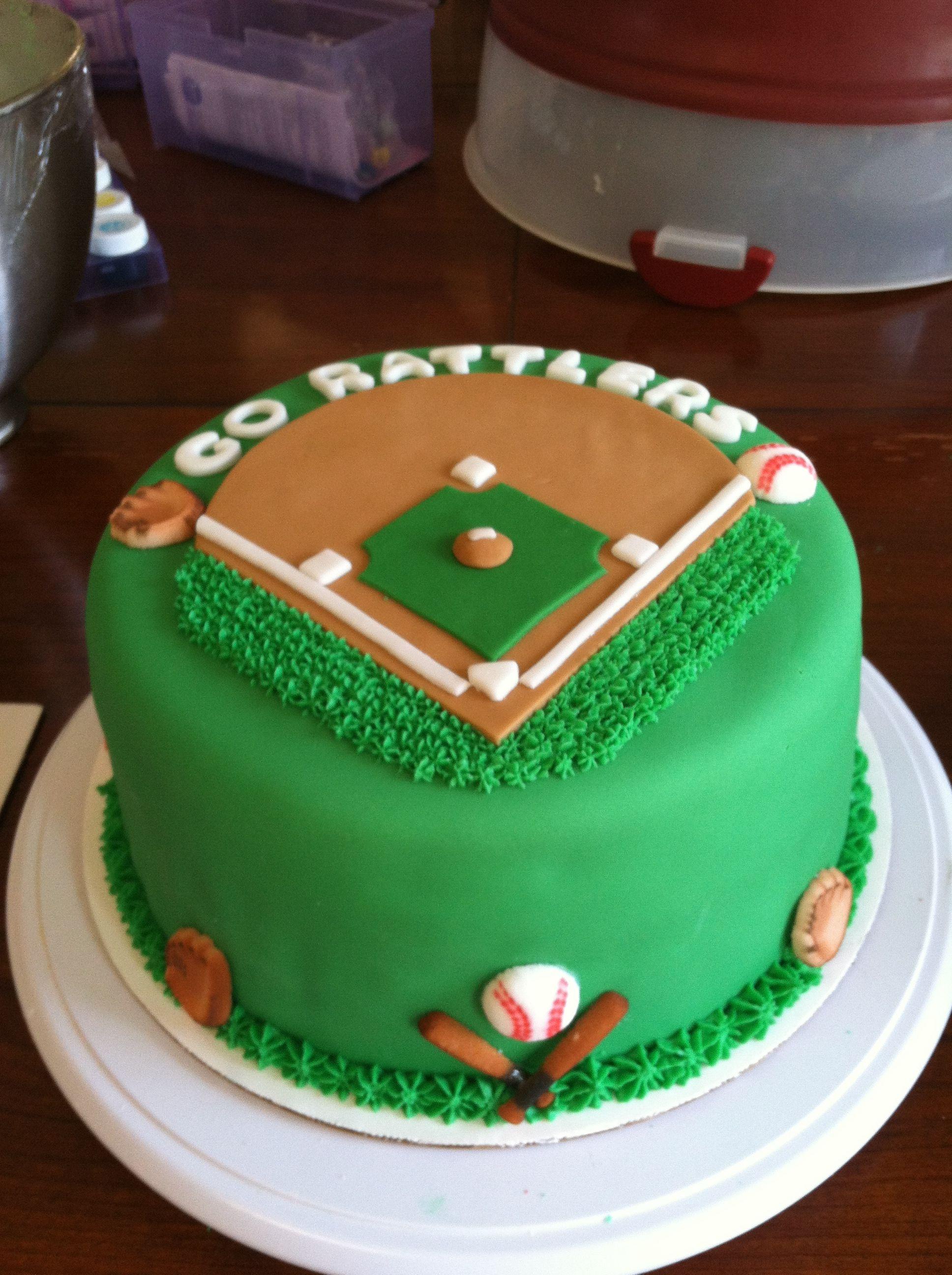 Baseball Birthday Cake  Baseball cake ybe not a good opportunity for frosting