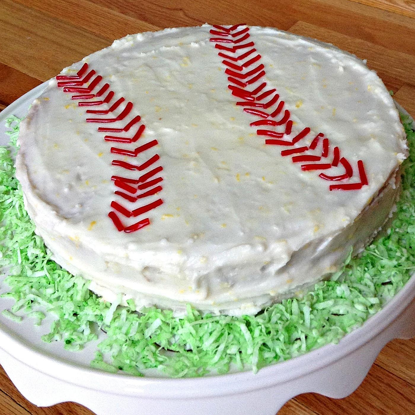 Baseball Birthday Cake  Baseball Birthday Cake