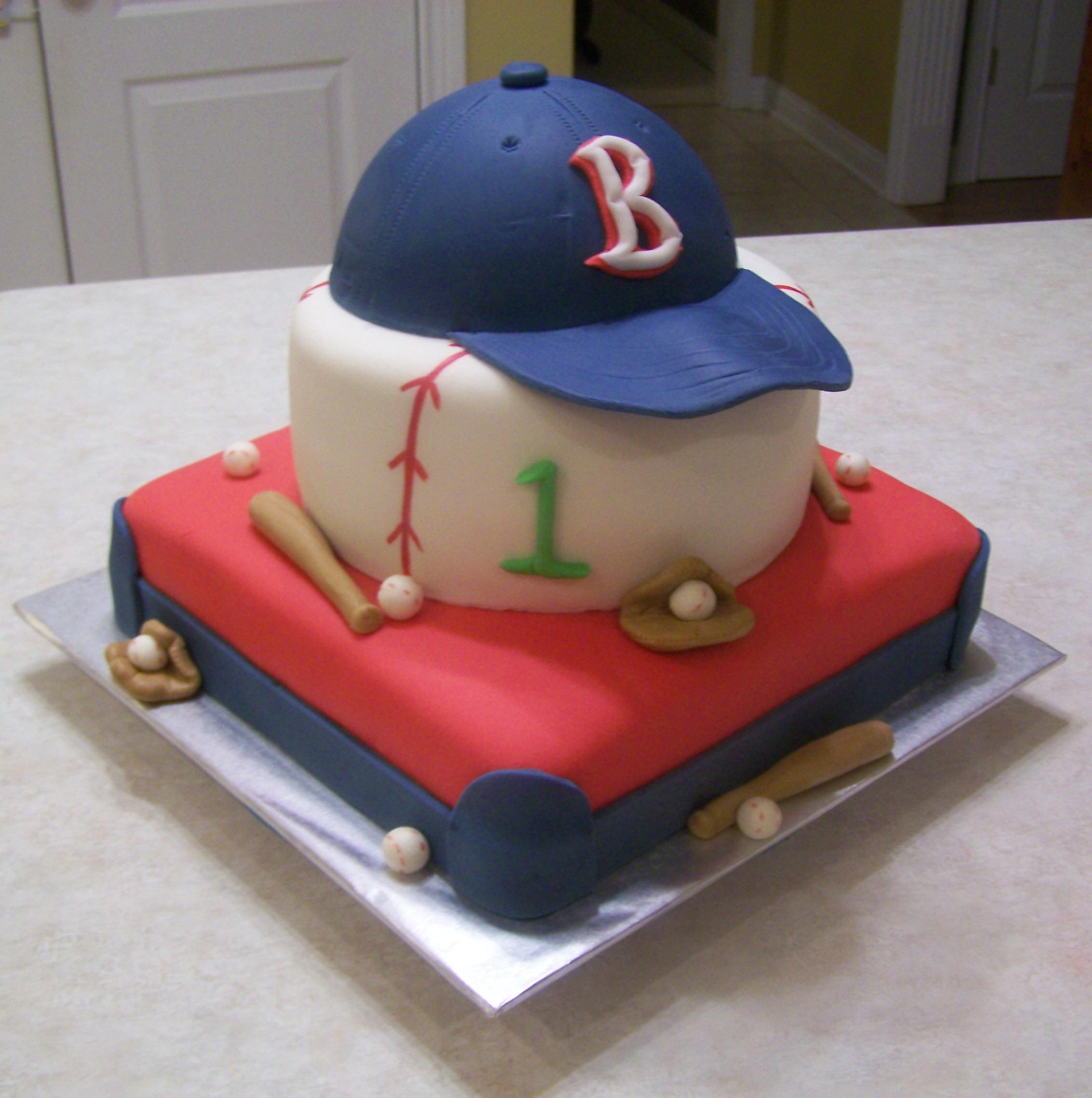Baseball Birthday Cake  1st Birthday Baseball Themed Cake