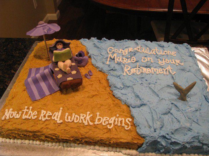 Beach Themed Retirement Party Ideas  Fun Beach Themed Retirement Cake