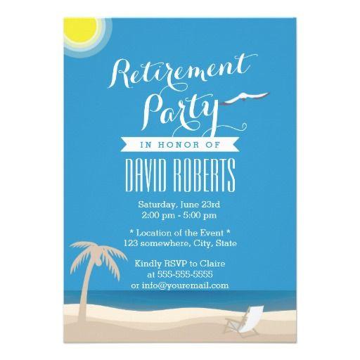 Beach Themed Retirement Party Ideas  Summer Beach Theme Retirement Party Invitations