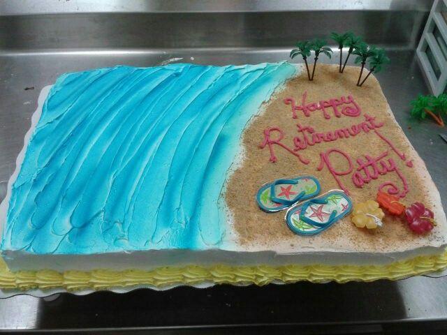 Beach Themed Retirement Party Ideas  Beach theme Retirement cake MY CAKES