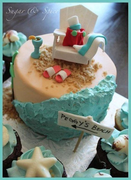 Beach Themed Retirement Party Ideas  Beach retirement cake Cake by sugarspicecouture