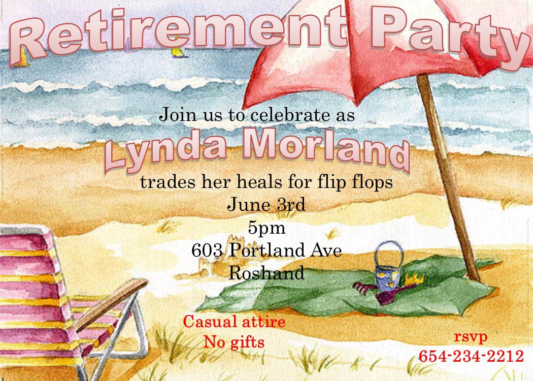 Beach Themed Retirement Party Ideas  Beach Themed Retirement Party Invitations
