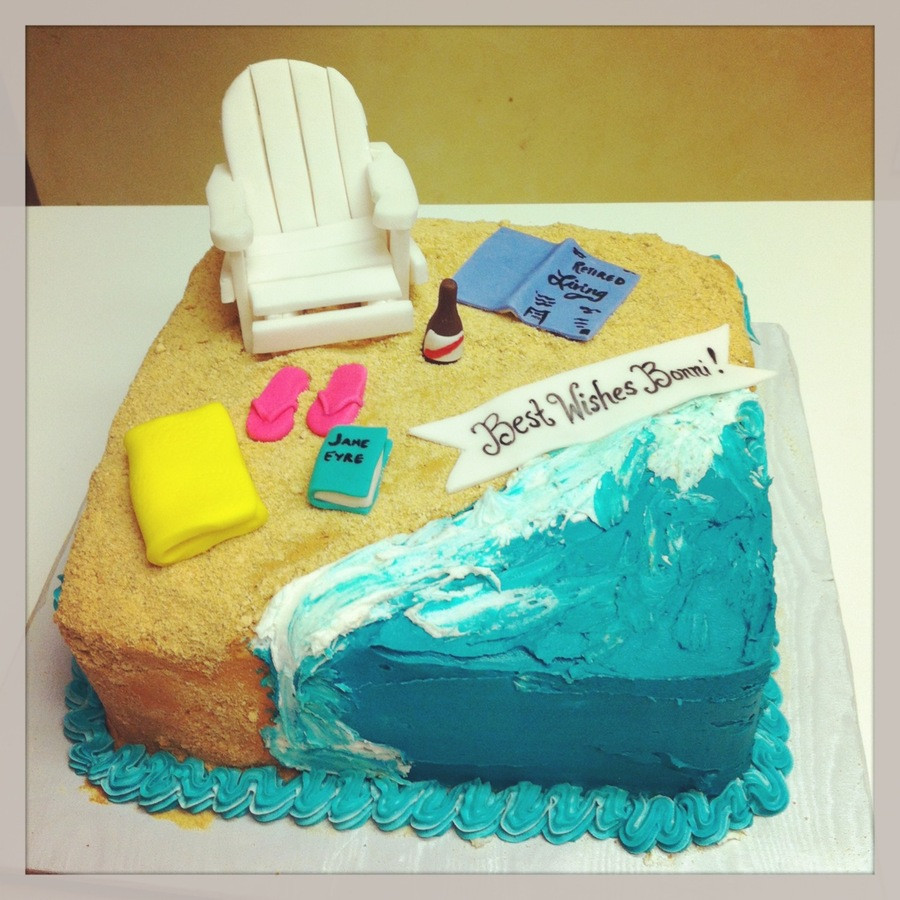 Beach Themed Retirement Party Ideas  Beach Themed Retirement Cake CakeCentral