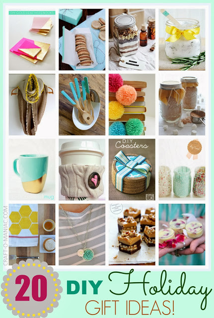 Best Christmas Gift Ideas  Top 20 DIY Holiday Gift Ideas