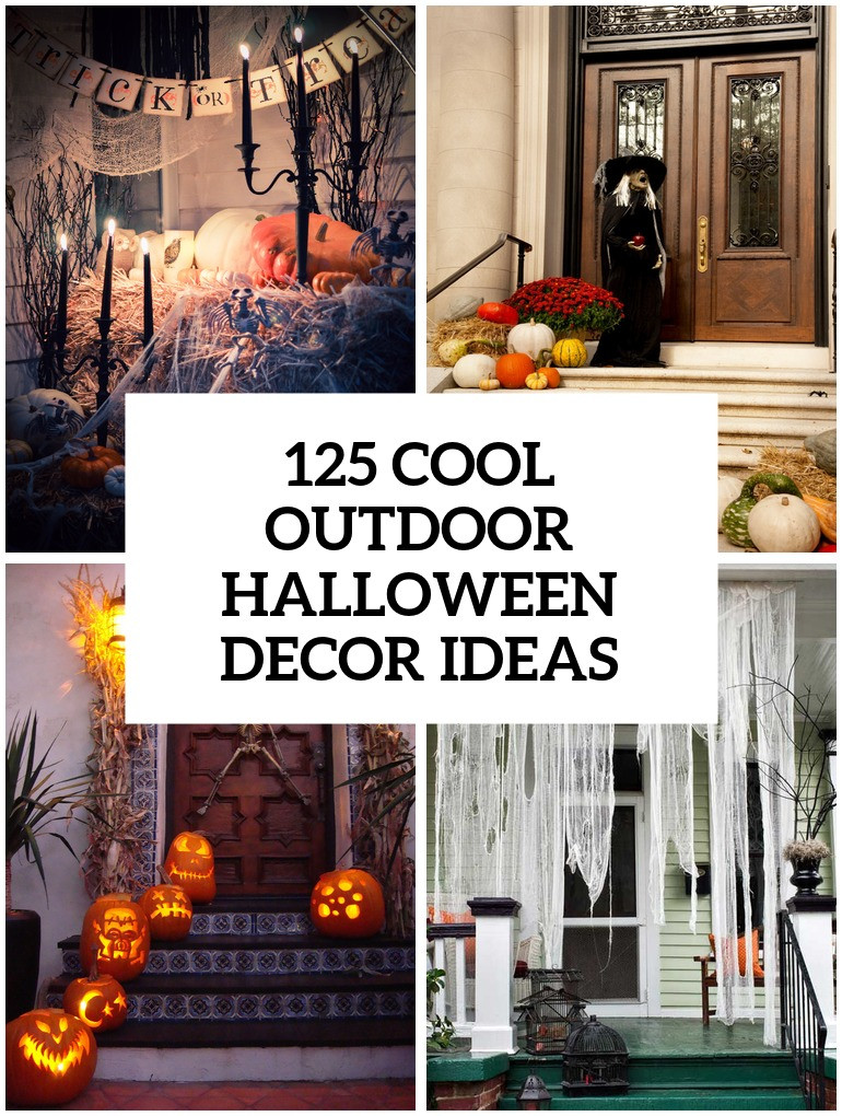 Best Outdoor Halloween Decorations  125 Cool Outdoor Halloween Decorating Ideas DigsDigs