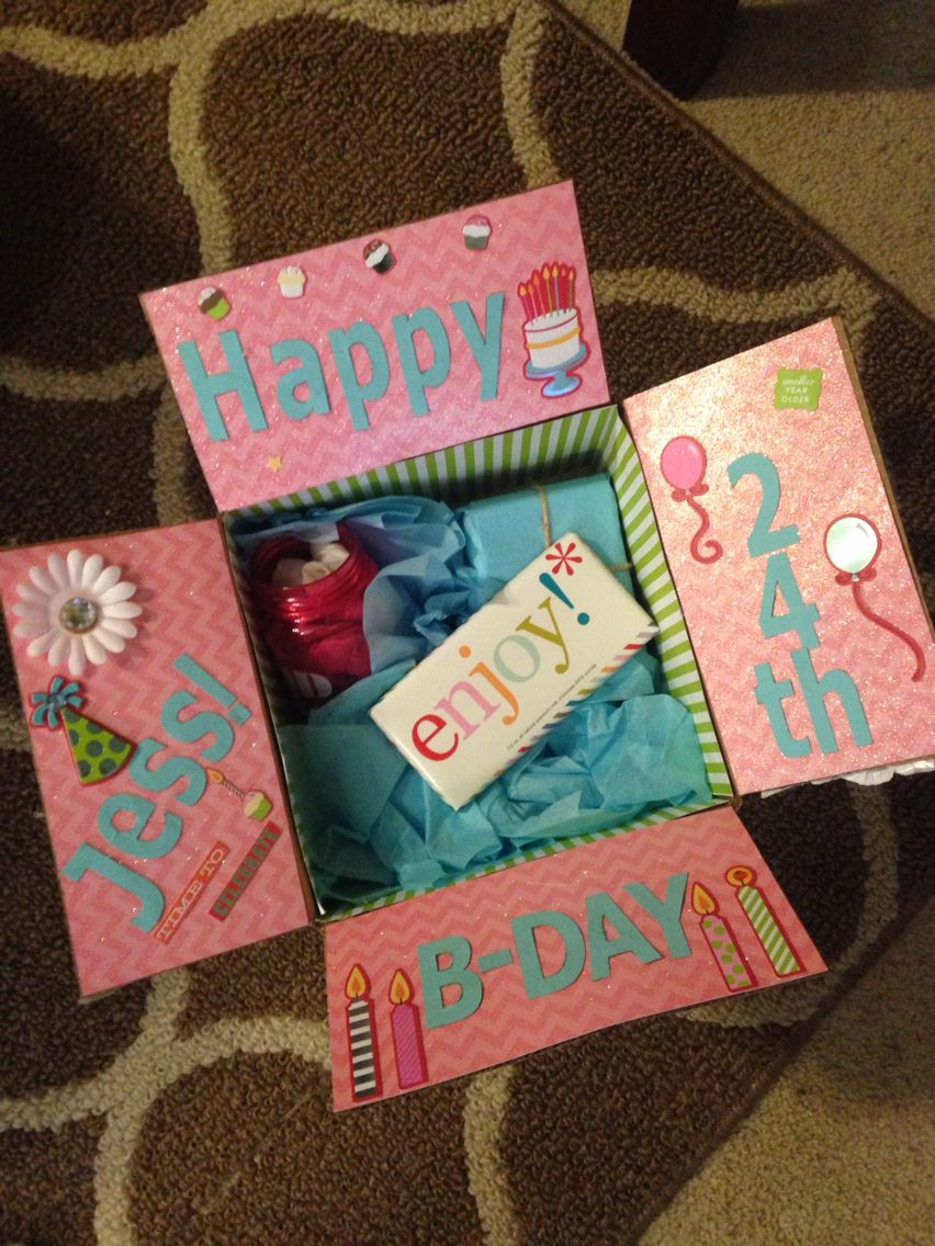 Birthday Gifts For Girl Best Friend  Best friend birthday box Decorate the inside of the box