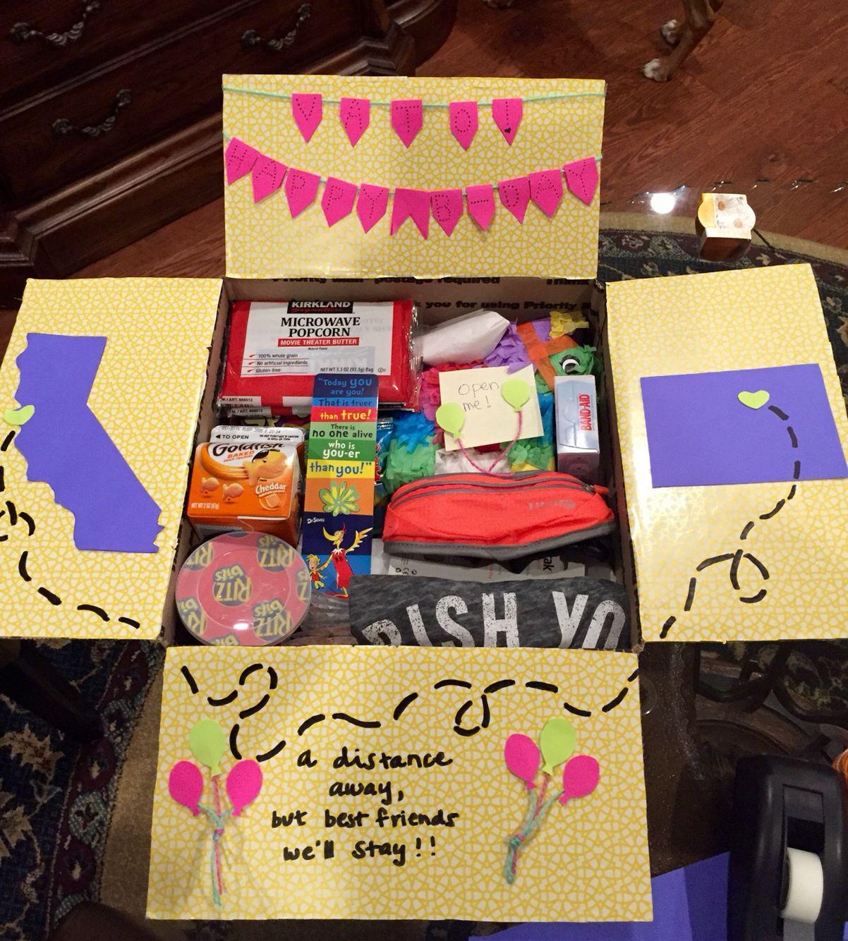 Birthday Gifts For Girl Best Friend  Birthday care package for a best friend Gigi Gonzalez