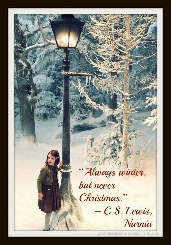 """C.S Lewis Christmas Quotes  Christmas Advent Calendar Quote """"Always winter but"""