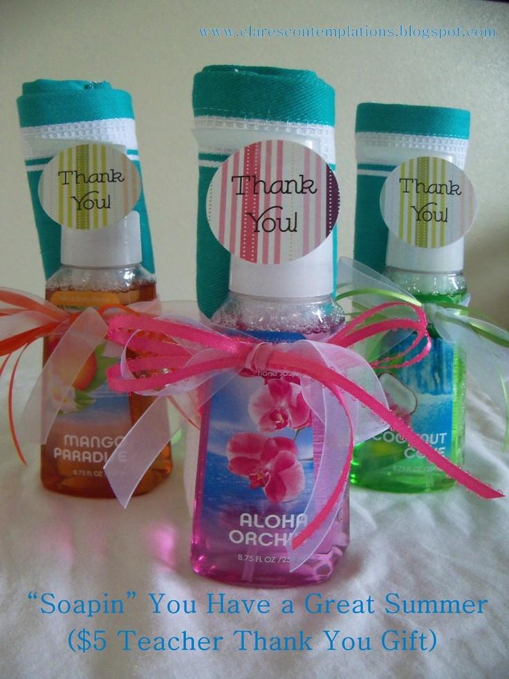 Cheap Thank You Gift Ideas  Clares Contemplations Teacher Thank You Hand soap Set