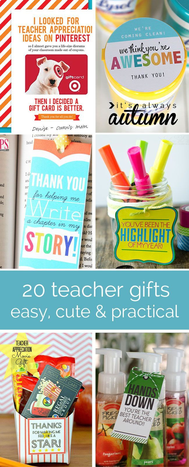Cheap Thank You Gift Ideas  1000 images about Teacher Appreciation Gift Ideas on