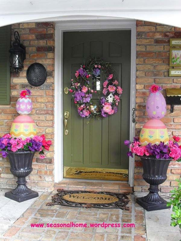 Christian Easter Party Ideas  25 best ideas about Outdoor easter decorations on
