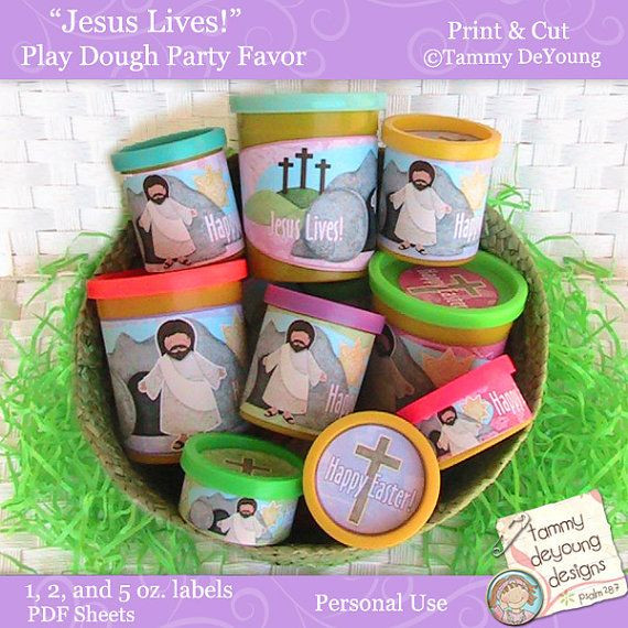 Christian Easter Party Ideas  Easter Party Favors Religious Easter printable by