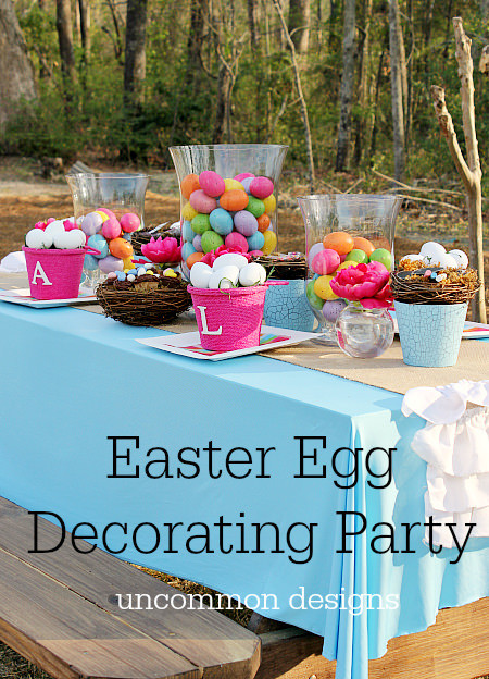 Christian Easter Party Ideas  Easter Egg Decorating Party Un mon Designs