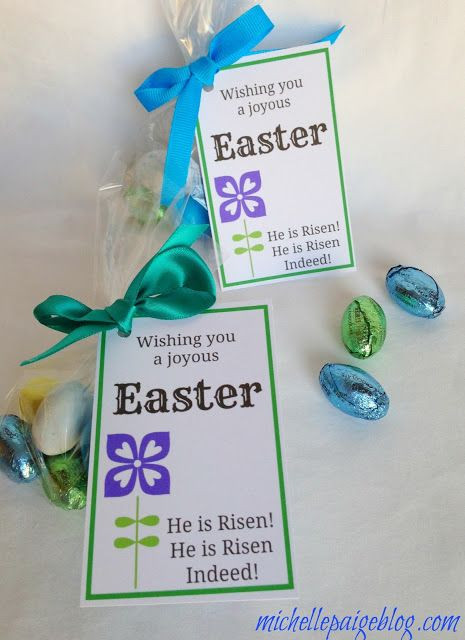 Christian Easter Party Ideas  michelle paige Easter Favors for Teachers Friends and
