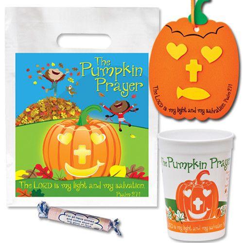 Christian Halloween Party Ideas  Christian Halloween Pumpkin Prayer Party Pack With Cup Bag