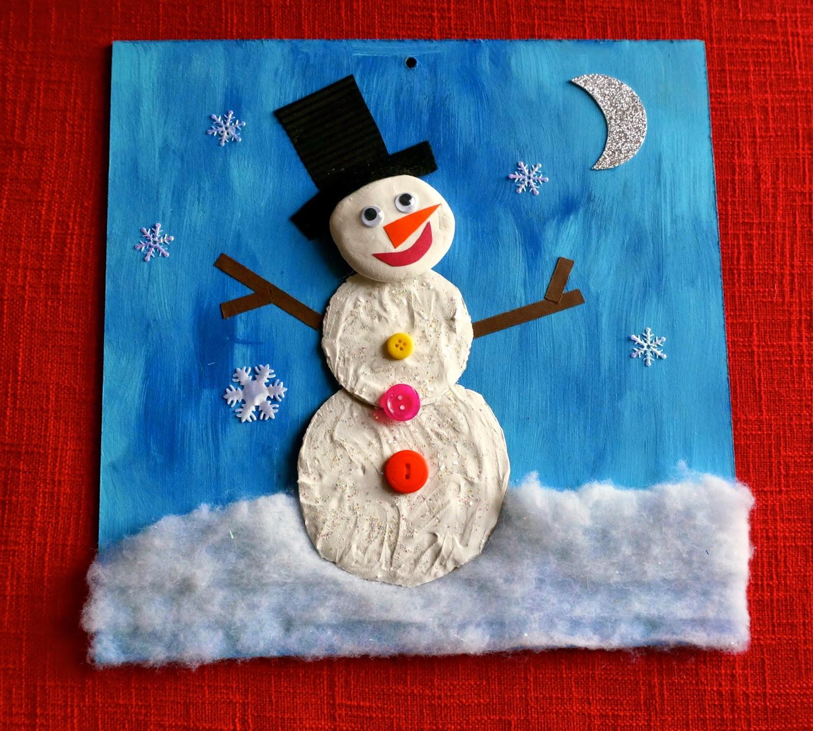 Christmas Art Ideas  that artist woman Winter Projects