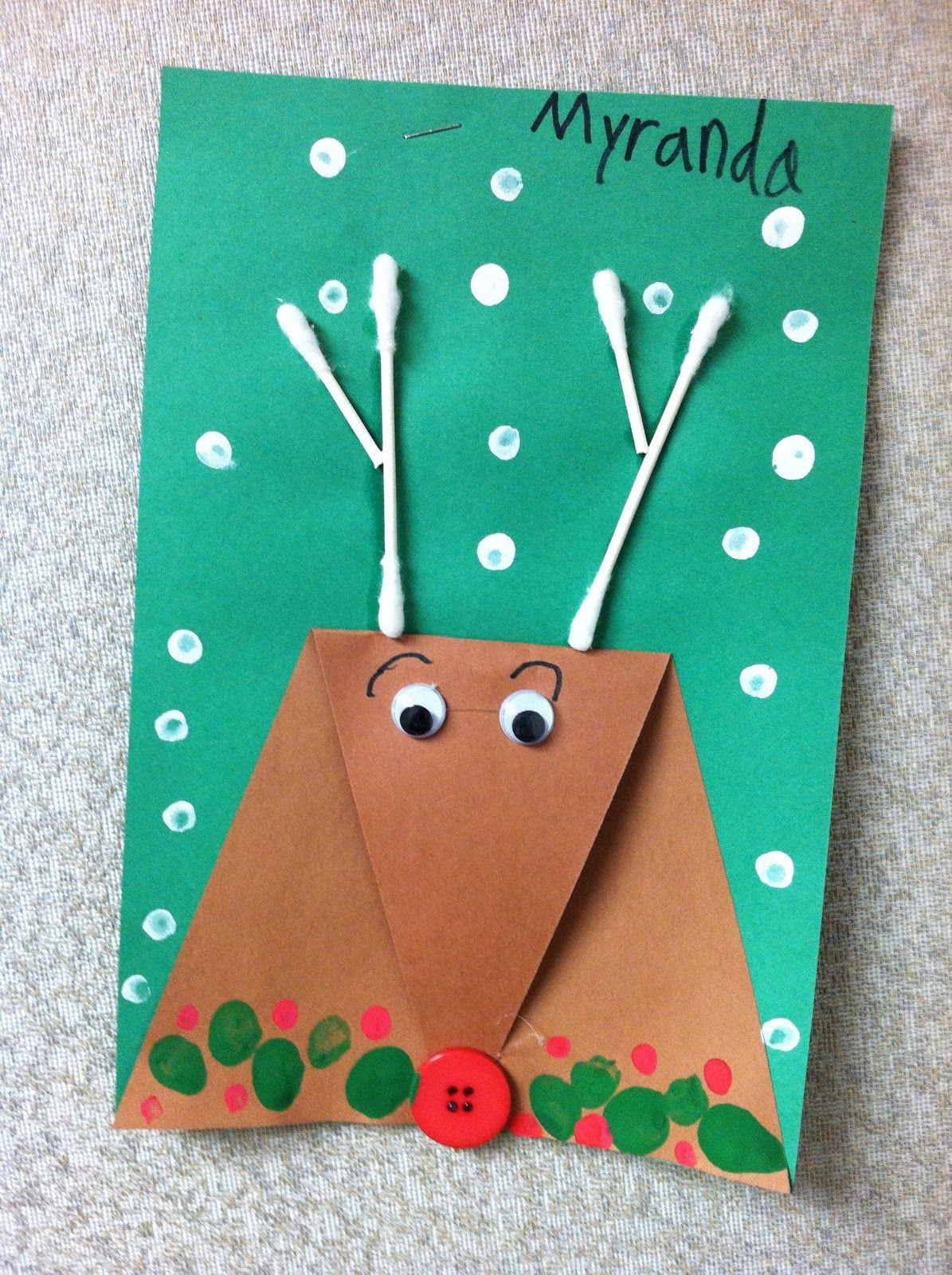 Christmas Art Ideas  Reindeer Activities on Pinterest