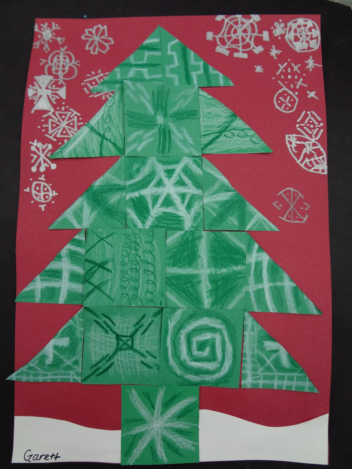 Christmas Art Ideas  Sharpies paint and paper Oh my Trees trees and more