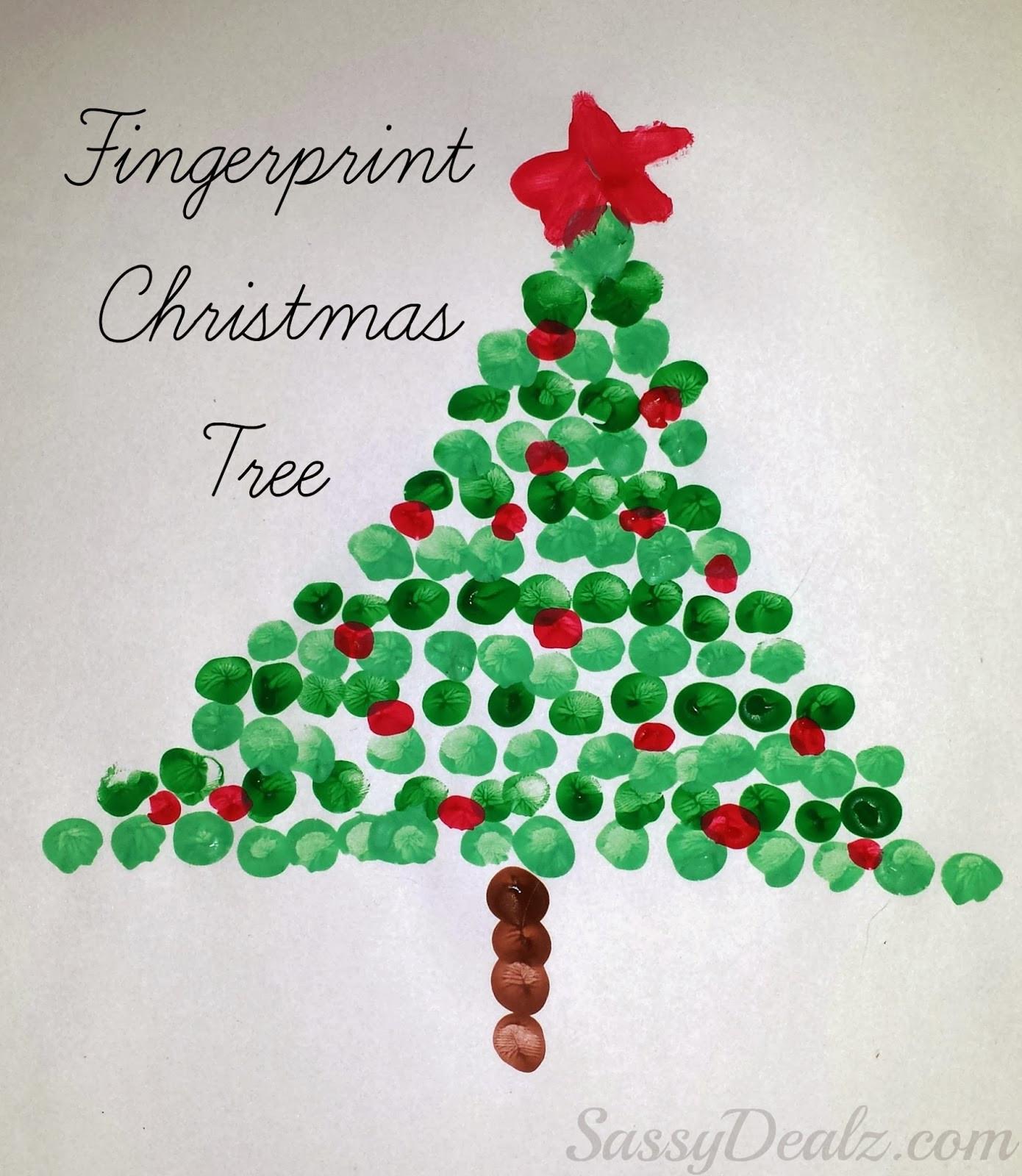 Christmas Art Ideas  Christmas Fingerprint Crafts U Create