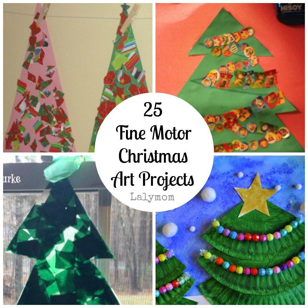 Christmas Art Ideas  Fine Motor Christmas Art Projects [Fine Motor Fridays