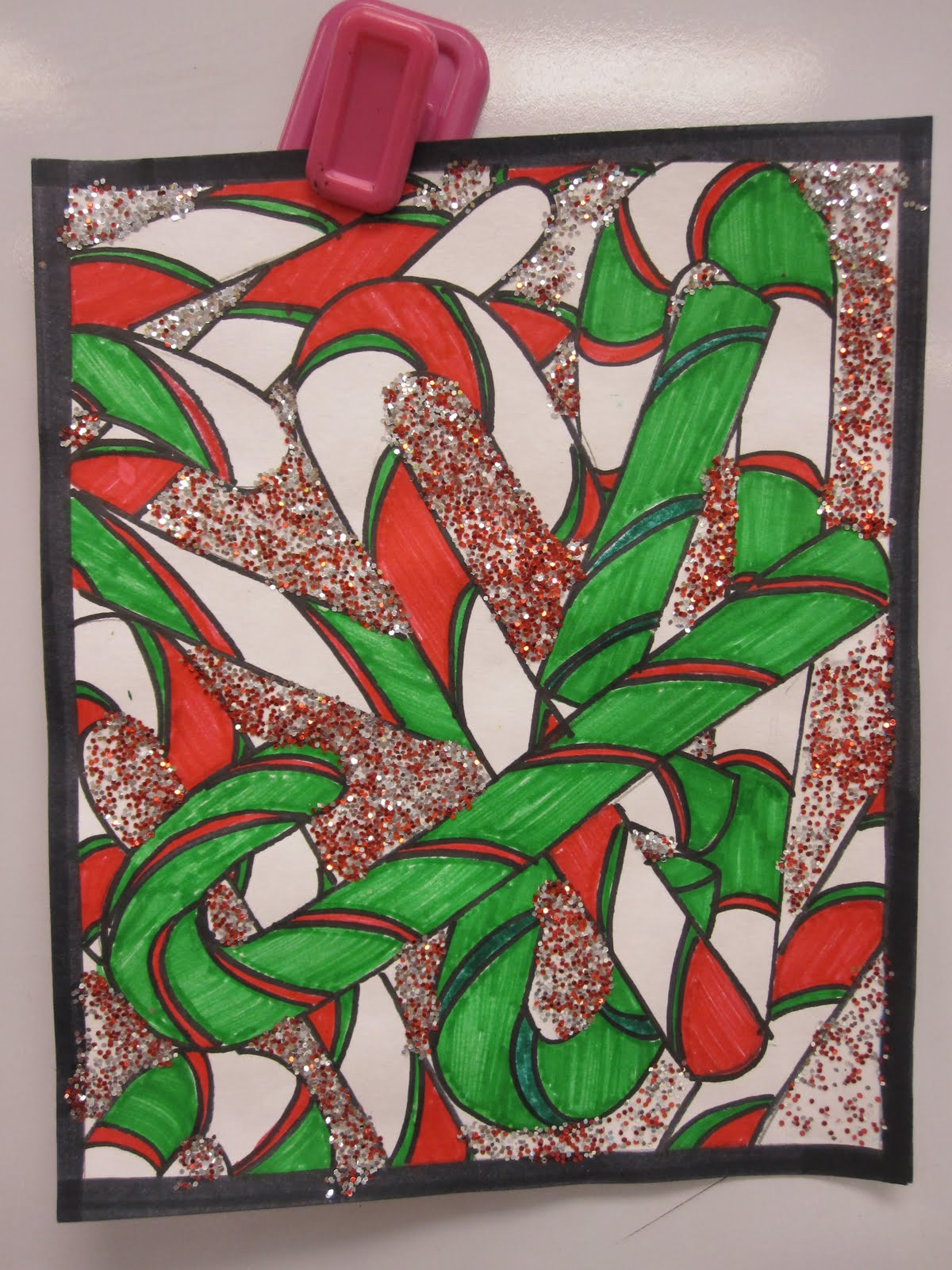 Christmas Art Ideas  The Clever Feather Candy Cane Overlap