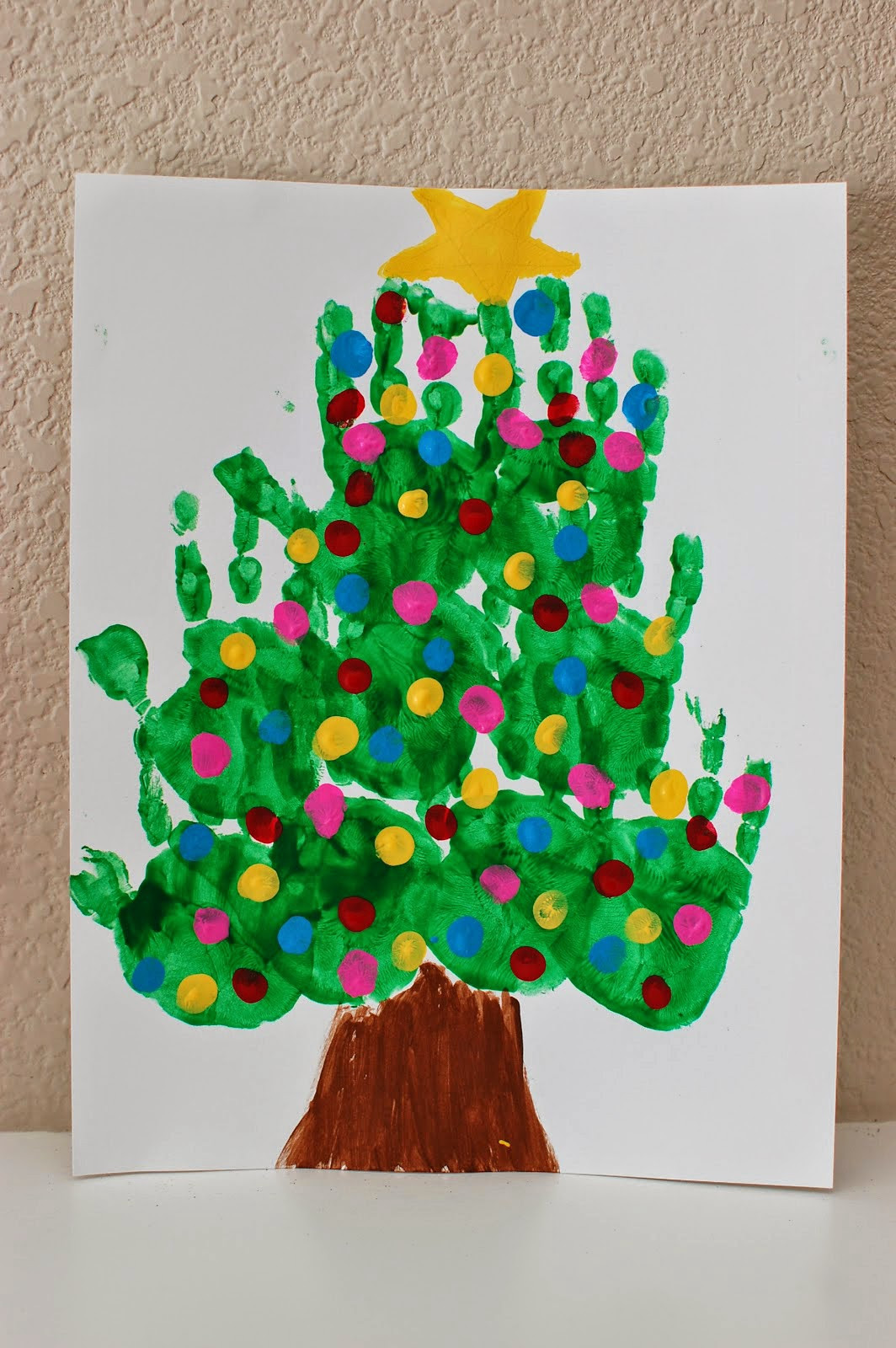 Christmas Art Ideas  20 of the Cutest Christmas Handprint Crafts for Kids
