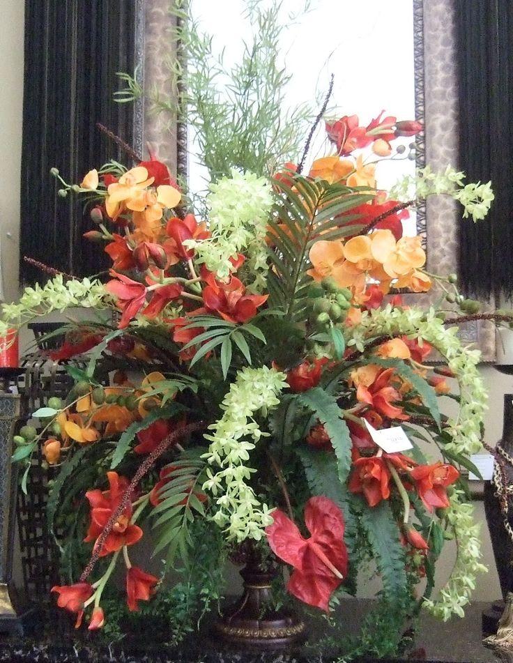 Christmas Artificial Flower Arrangements  98 best images about Pulpit flower arrangement on Pinterest