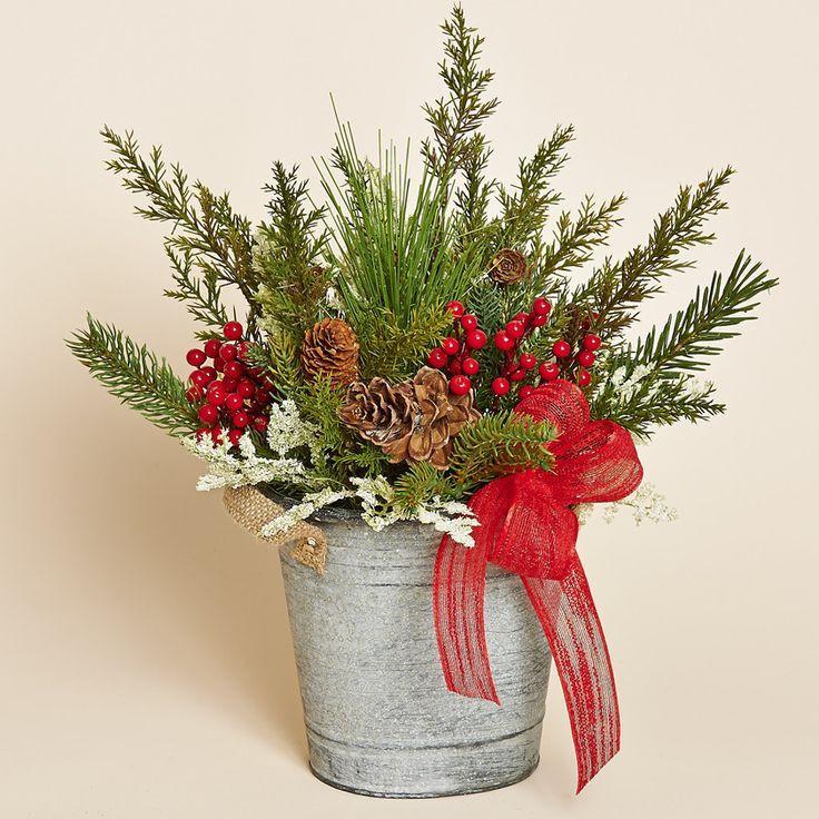 Christmas Artificial Flower Arrangements  127 best Silk Flower Arrangements images on Pinterest