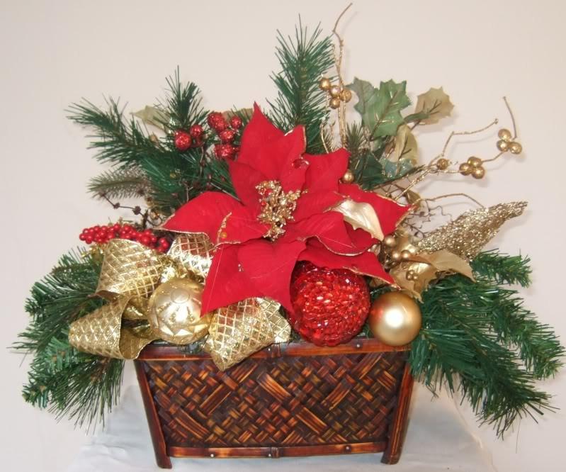 Christmas Artificial Flower Arrangements  AnaSilkFlowers Ideas Christmas centerpieces Holiday