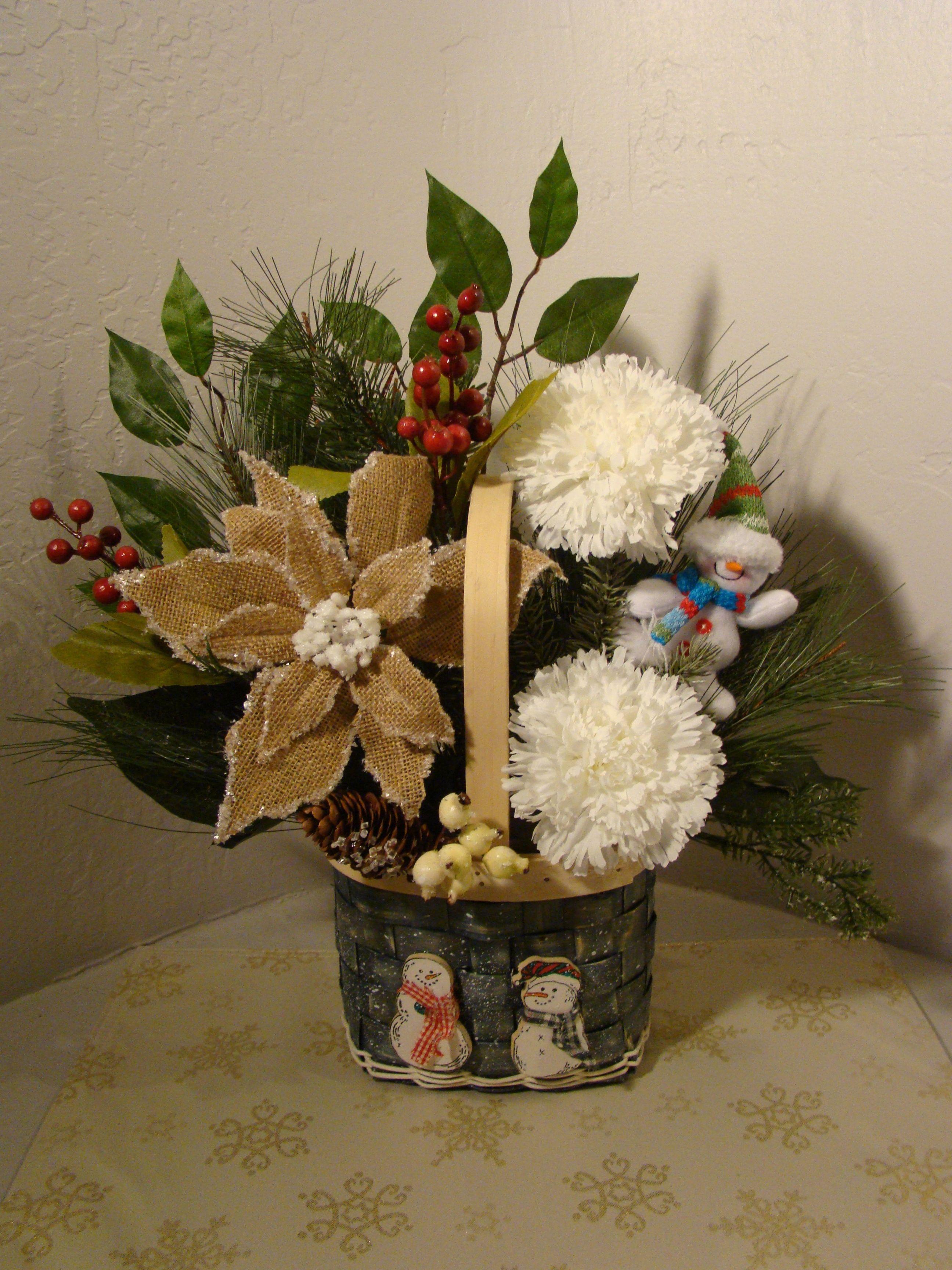 Christmas Artificial Flower Arrangements  CHRISTMAS SILK FLORAL ARRANGEMENT 3039