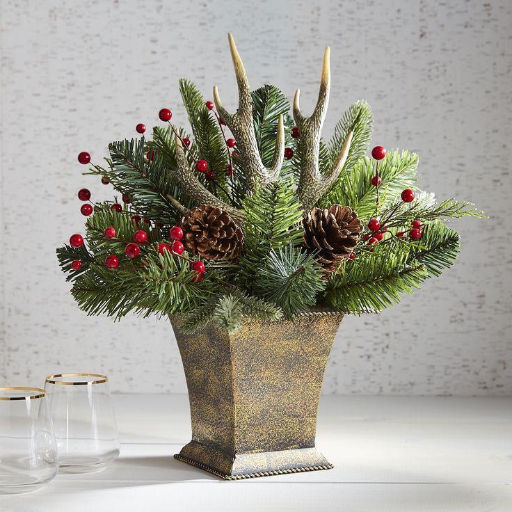 Christmas Artificial Flower Arrangements  242 best Decor Seasonal & Holiday Decorations images
