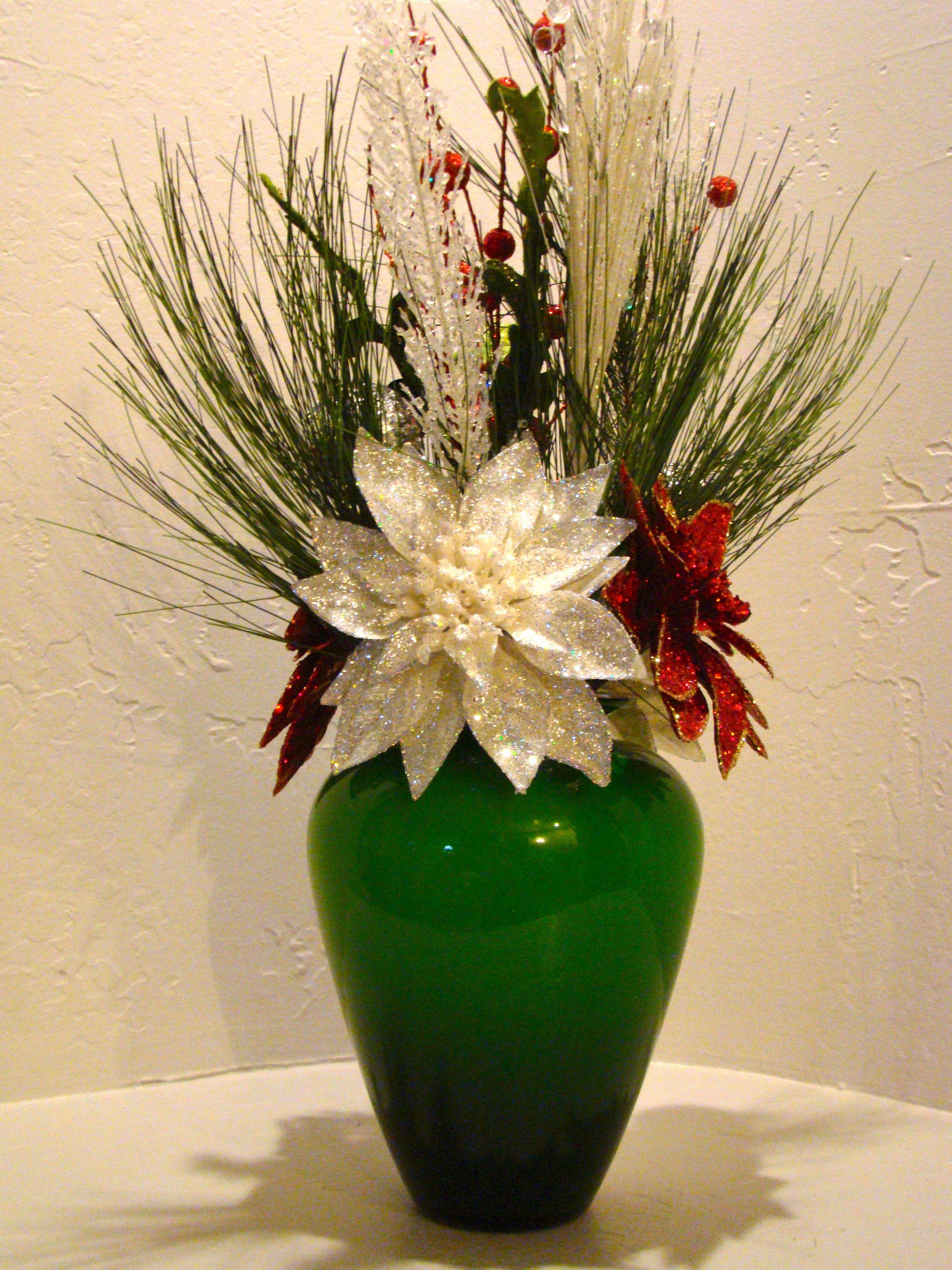 Christmas Artificial Flower Arrangements  CHRISTMAS SILK FLORAL ARRANGEMENT 3003