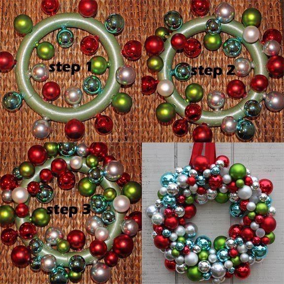 Christmas Ball Wreath DIY  DIY Ornament Wreath Tutorial s and