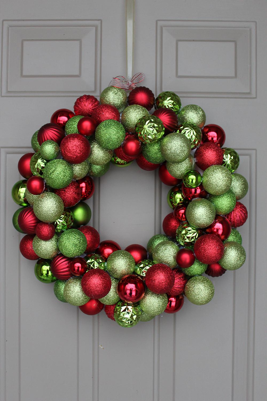 Christmas Ball Wreath DIY  DIY Ornament Wreath under $30