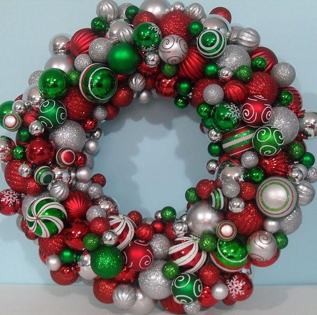 Christmas Ball Wreath DIY  christmas ball wreath Christmas Ball Wreath