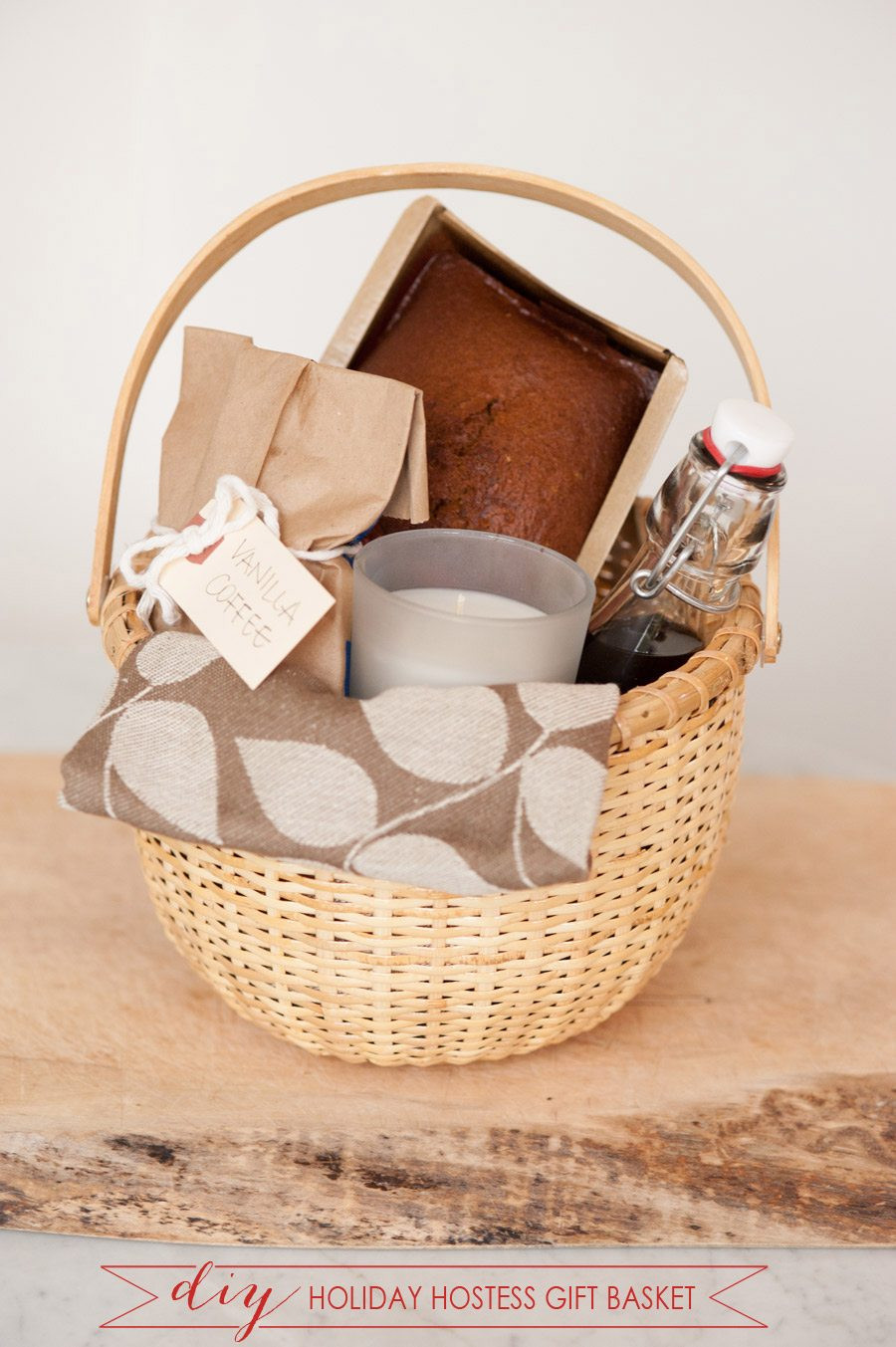 Christmas Basket DIY  DIY Holiday Hostess Gift Basket The Sweetest Occasion