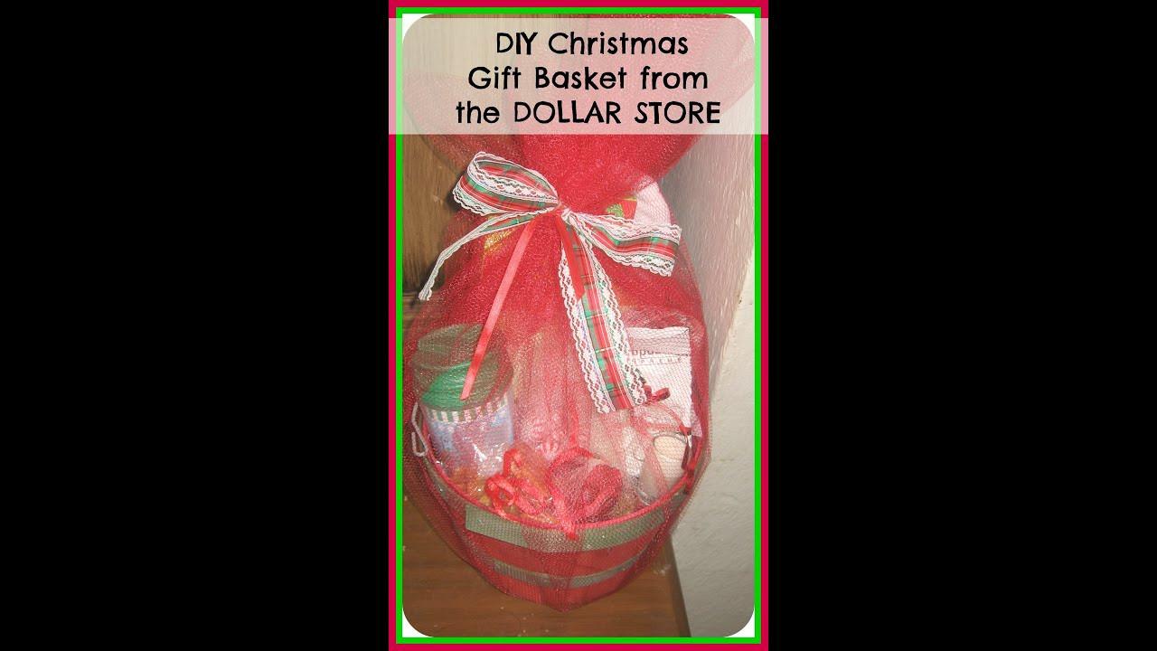Christmas Basket DIY  DIY How to make Christmas Gift Basket from the DOLLAR