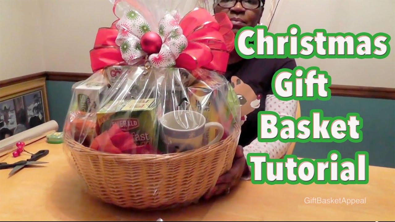 Christmas Basket DIY  DIY Gift Basket Tutorial Christmas Gift Basket