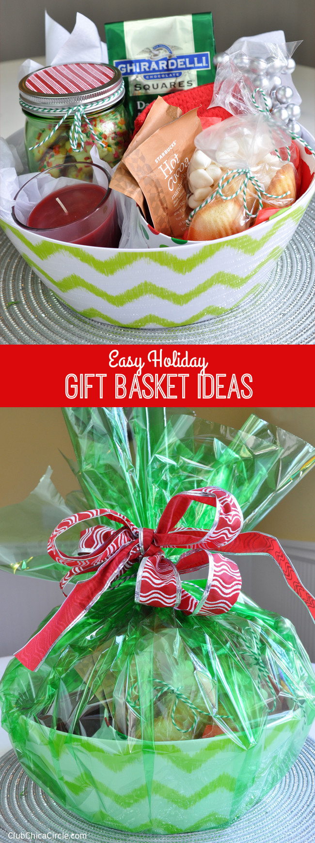 Christmas Basket DIY  Easy Holiday Gift Basket Ideas Giveaway