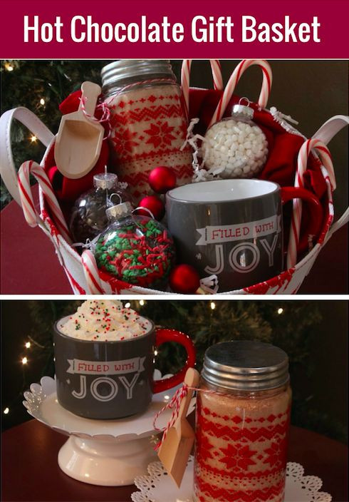 Christmas Basket DIY  1000 ideas about Hot Chocolate Gifts on Pinterest