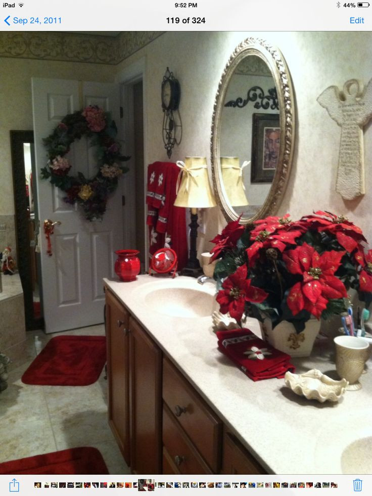 Christmas Bathroom Decorations  1000 images about Decorating the Bathrooms for Christmas