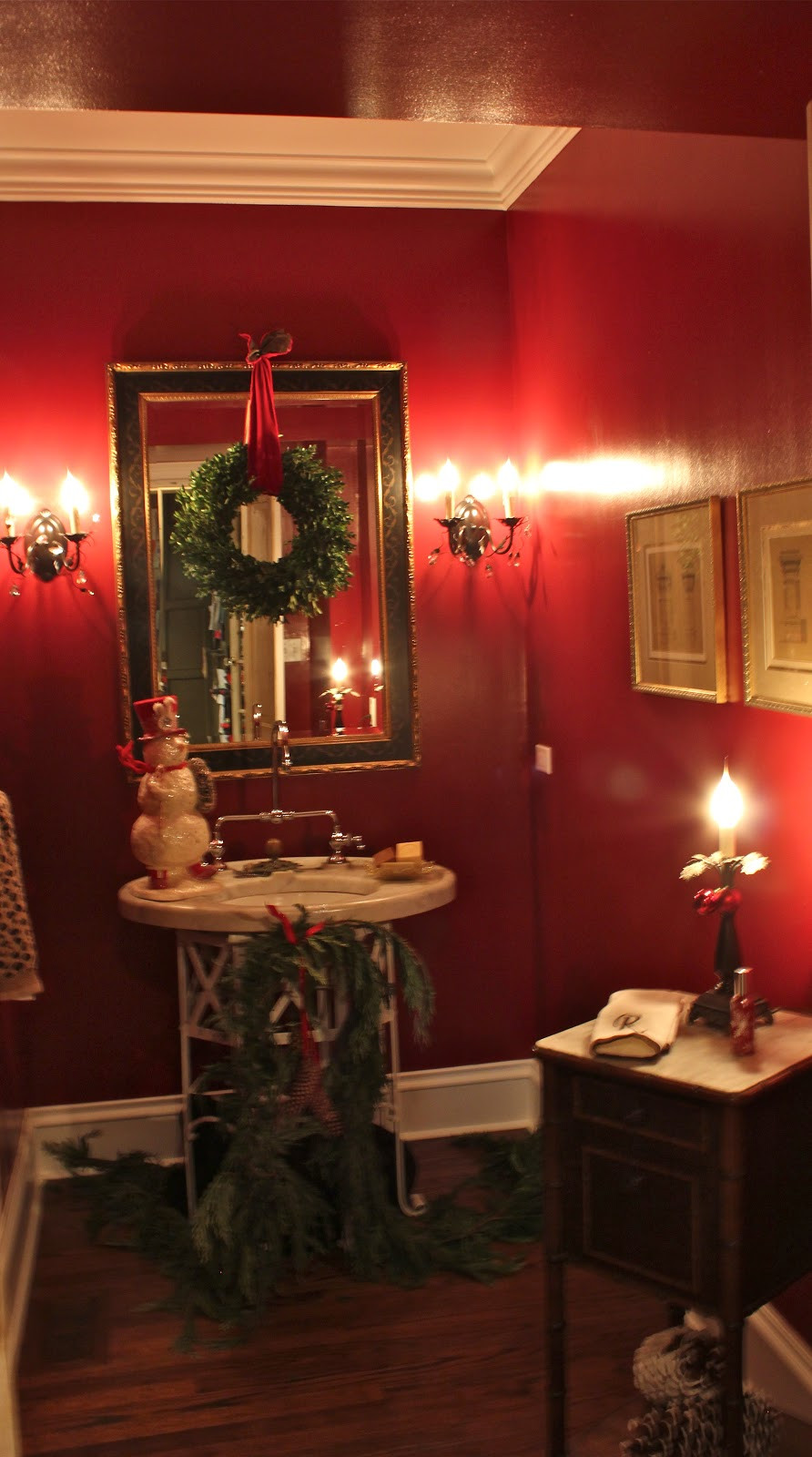 Christmas Bathroom Decorations  5th and state Our Christmas Showhouse