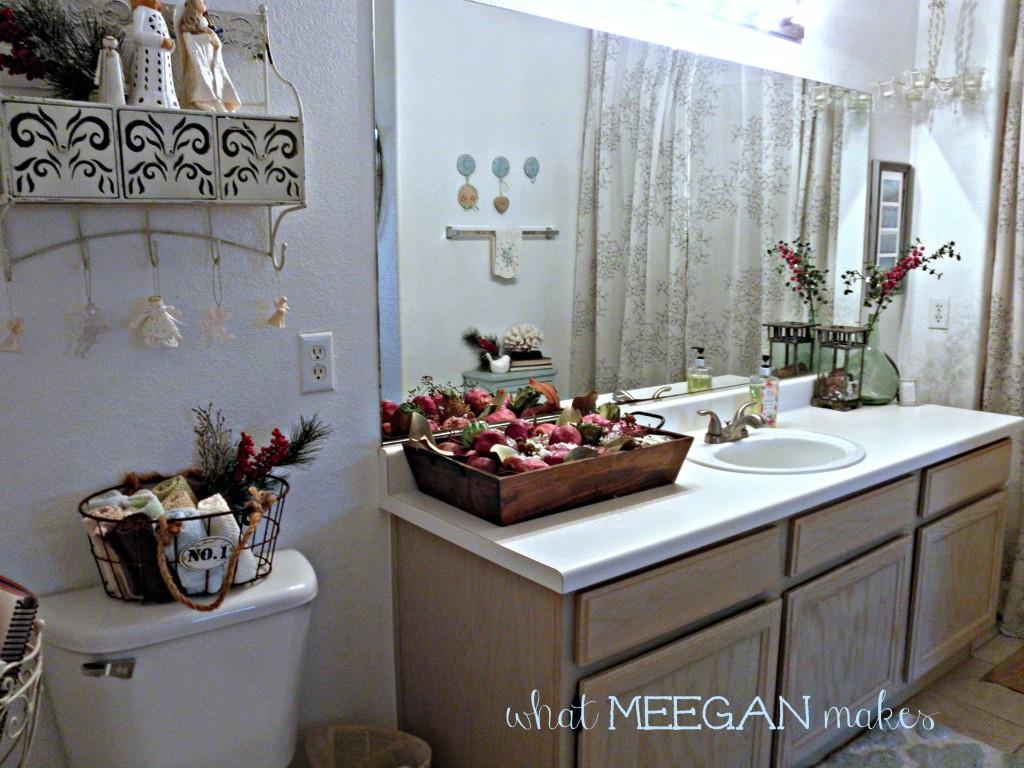 Christmas Bathroom Decorations  Guest Bathroom Christmas Decor