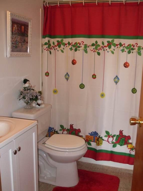 Christmas Bathroom Decorations  Cute Bathroom Decorating Ideas For Christmas family