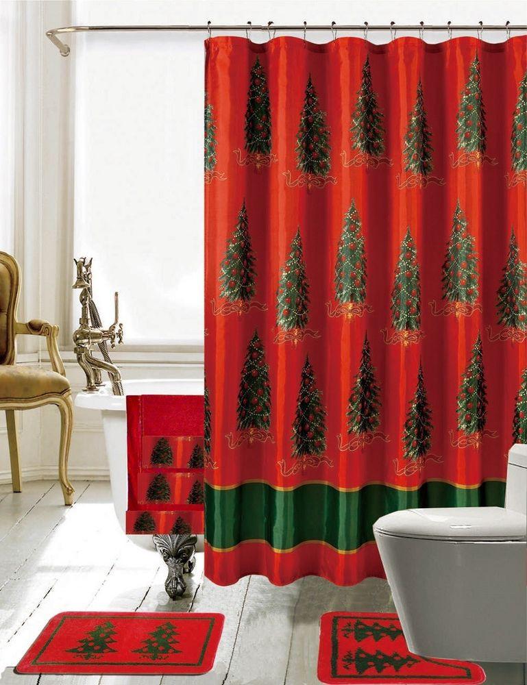 Christmas Bathroom Decorations  Daniels Bath Christmas Bathroom Decor 18 Piece Shower