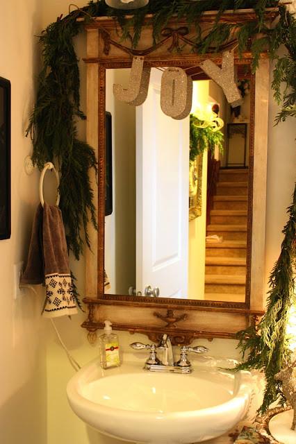 Christmas Bathroom Decorations  Remodelaholic